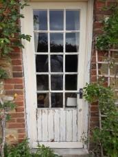 wooden doorframe