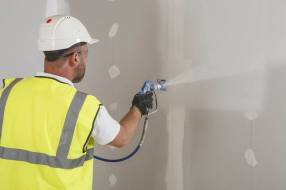 Spray Plaster Services   K & R Decorators of Petworth